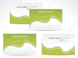 abstract green based business card template vector illustration