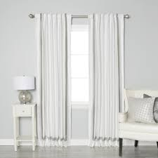 border faux silk thermal insulated blackout back tab curtains