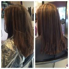 foil highlights for brown hair before and after colour and style photos oasis hair nantwich