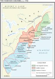 the thirteen colonies map thirteen colonies 1760
