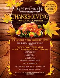 join us for a thanksgiving feast at tilly s table on thursday