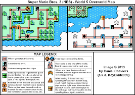 Super Mario World Map by Super Mario Bros 3 World 5 Overworld Map Png Neoseeker