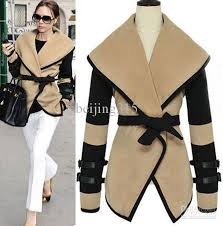 european style new women leather sleeves plus size wool military