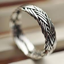 braided ring sterling silver braided ring jewelry1000