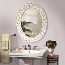 bathroom mirrors mirror with frame added existing oval bathroom mirrors design ideas