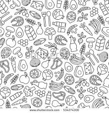 seamless pattern food seamless pattern healthy food icons stock photo photo vector