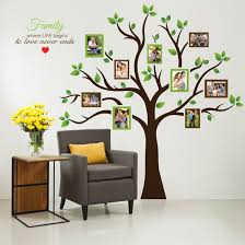 home decor wall art stickers amazon com timber artbox large family tree photo frames wall