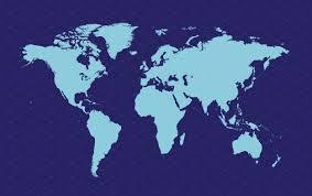 Flat Map Of World by World Map Dark Blue Web Elements Creative Market