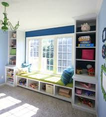 Window Bench With Storage Sawdust Girl Built In Window Seat Bench With Bookshelves Via