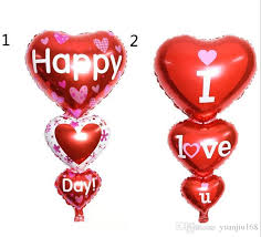 valentines day baloons 2 sizes baloon big i you ang happy day balloons party