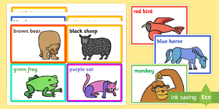 colour prompt cards support teaching brown bear brown bear