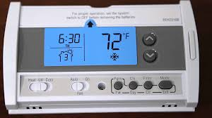 honeywell rth2310b 5 2 day programmable thermostat youtube