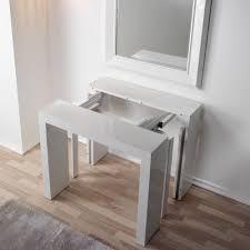 tavoli console tavolo consolle allungabile 5 in 1 bianco it casa e cucina