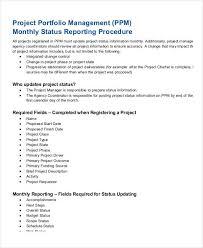 portfolio management reporting templates project management report templates 7 free pdf format