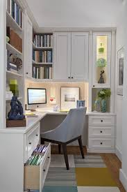 Corner Desk With Chair Built In Bookshelf Design Ideas Home Office Traditional With Desk