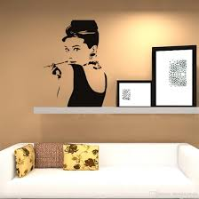 audrey hepburn home decor indesign wall art sexy marilyn monroe audrey hepburn removable wall decal sticker home art home dcor 3266cm for sale free shipping