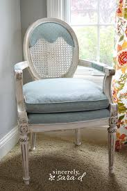 painted upholstered chair using chalky finish paint sincerely