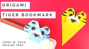 origami tiger bookmark origamitree com