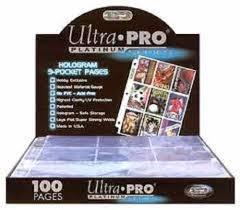 9 pocket pages ultra pro platinum 100 9 pocket pages ebay