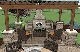Outdoor Patio Design Pictures Backyard Patio Design Plans Patio With Pergola Fireplace Area