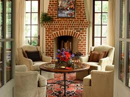 Fancy Fireplace by Living Room Dazzling Living Room With Red Brick Fireplace