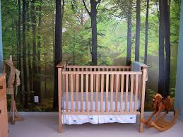 sweet forest bedroom themed interior decoration design along with