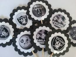 Nfl Decorations Nfl Oakland Raiders Cupcake Toppers Pick Your Team On Storenvy