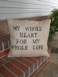 Burlap Decorative Pillows My Whole Heart Throw Pillow Burlap Pillow Wedding Decor Slipcover