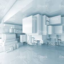 3d room abstract square blue hightech 3d background stock photo 488602488