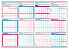 printable year planner 2015 au 2015 wall planner sent to print the makers collective