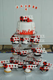 firetruck cake tara s cupcakes firetruck cake cupcake tower