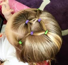 simple hairstyles with one elastic easy toddler elastic hairstyle youtube