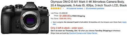 olympus camera black friday amazon 300 off on the olympus e m1ii update sold out 43 rumors