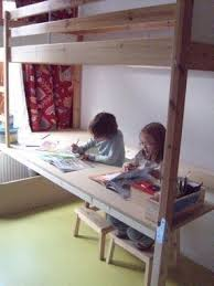 Plans For Building A Bunk Bed With Desk by Bunk Bed With Desk Under Foter