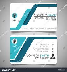 blue modern creative business card name stock vector 554171563
