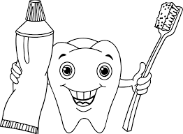 tooth coloring pages virtren com
