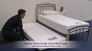 serene tetras single guest bed frame youtube