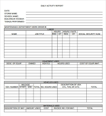 daily work report template daily work report format for employees professional and high