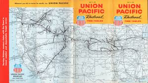 California Zephyr Route Map by Up 1964 Timetable
