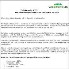 Skills In Job Resume by Thinkopolis Top Job Skills In Canada In 2015 Workopolis