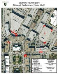 southlake town square map sidewalk and improvements coming to southlake town square