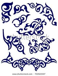 details kazakh ornaments stock vector 702022507