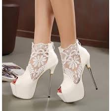 white wedding shoes for the white wedding shoes lace peep toe stiletto heels platform ankle