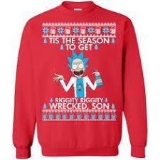 rick u0026 morty wubba christmas sweater rick morty