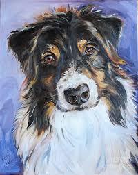 australian shepherd tri black tri australian shepherd painting by maria u0027s watercolor