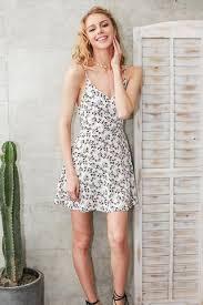 floral print summer short dress casual v neck strap high waist