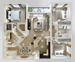 modern apartment plans bedroom large 3 bedroom apartments plan travertine picture