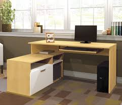 L Shaped Modern Desk by Fireplace Modern L Shaped Desk With Hutch Plus Computer Set On