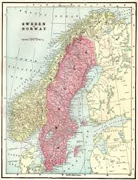 Turkestan Map 1900 Antique Norway Map Sweden Map Vintage Map Of Sweden Map Of