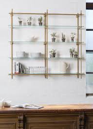 glass shelves for kitchen cabinets open kitchen shelves using our collector s shelving system with
